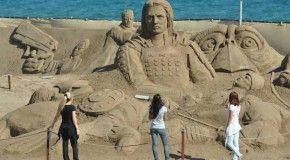 В Анталии открылся фестиваль песчаной скульптуры